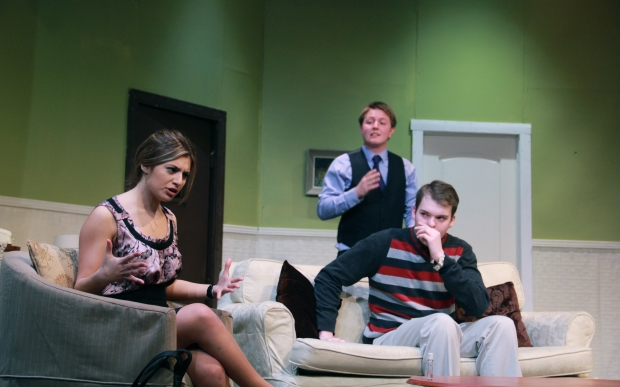 "Sara Chiodo, Matthew Hunt, & Brent Clifford Gorrie in ""Don't Dress For Dinner"""
